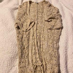 American Eagle Crocheted Cardigan